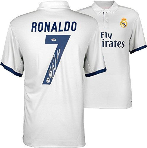 Cristiano Ronaldo Real Madrid Autographed 2016-17 Home Jersey - Fanatics Authentic Certified - Autographed Jerseys
