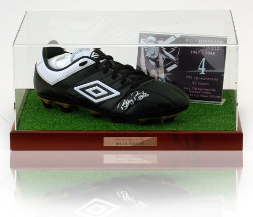 Billy Bonds hand signed West Ham United Football Boot