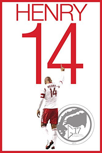 Thierry Henry Poster - New York Red Bulls Art