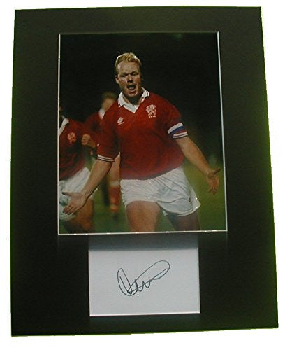 RONALD KOEMAN Holland Photo/Signed Index Card Matted Display Auto COA Ready to Frame