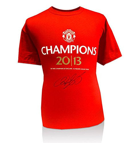 Ryan Giggs Signed Manchester United T Shirt - 2013 Champions Autographed