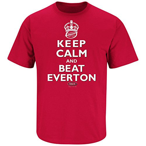 'Keep Calm and Beat Everton' Red T Shirt