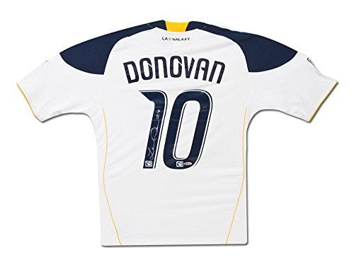 Signed Landon Donovan Jersey - LA Home White - Upper Deck Certified - Autographed Soccer Jerseys