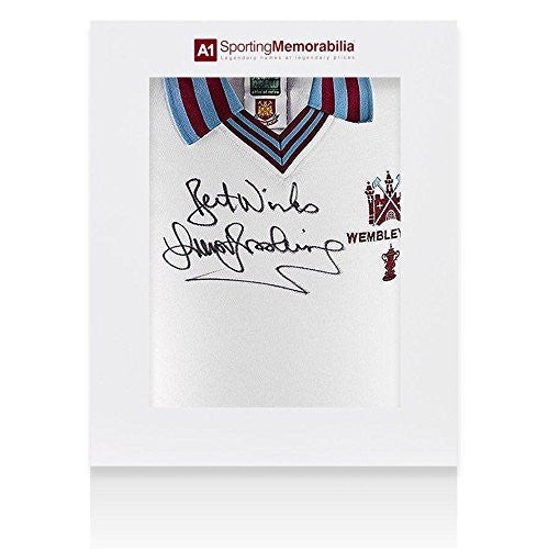 Trevor Brooking Autographed Jersey - Sir Shirt Gift Box