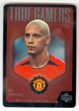 Rio Ferdinand trading card 2003 Upper Deck Strike Force