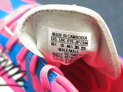 10.5 James Rodriguez Signed Sz 10.5 Adidas Pink Blue Soccer Cleat AUTO PSA/DNA COA