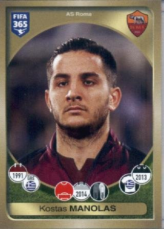 2016-17 Panini FIFA 365 #273 Kostas Manolas AS Roma Soccer Sticker