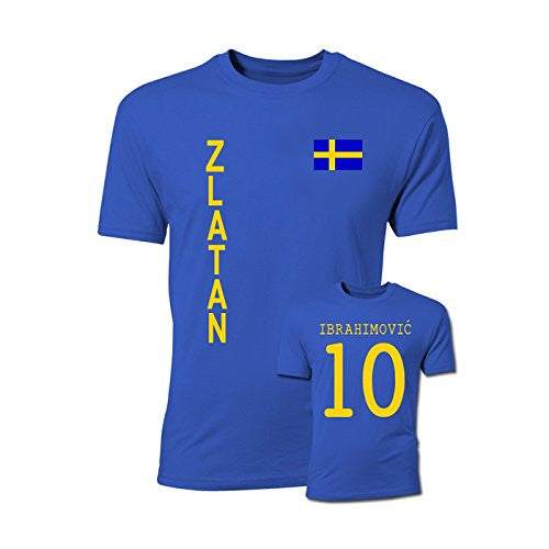 Zlatan Ibrahimovic Sweden Flag T-Shirt (Blue)