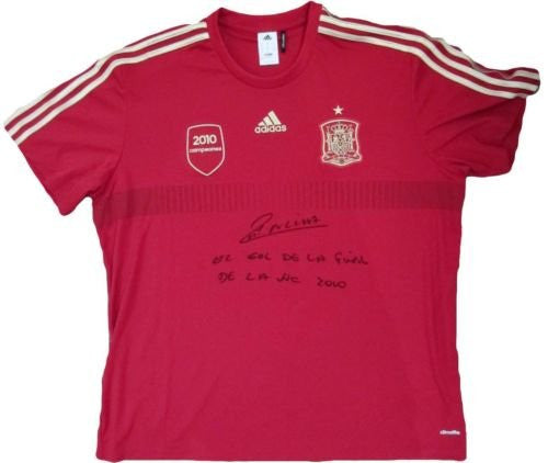 Andres Iniesta Signed Spain 2010 World Cup Jersey Inscribed, Must See! PSA/DNA