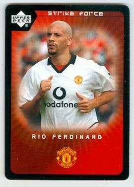Rio Ferdinand trading card 2003 Upper Deck Strike Force #23