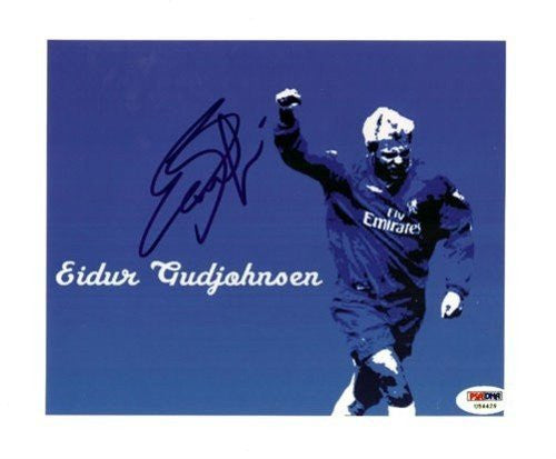 Eidur Gudjohnsen Signed 8x10 Photograph Chelsea - PSA/DNA Authentication - Sports Memorabilia