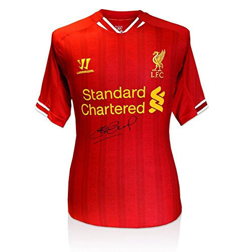 Steven Gerrard Signed Liverpool 2013/2014 Shirt - Front Signed Autograph