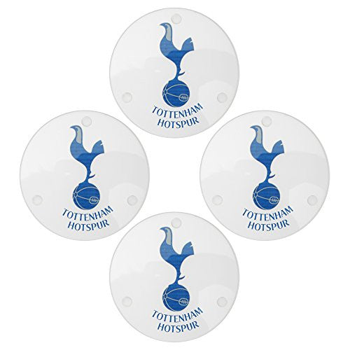 Tottenham Hotspur FC Official Round Glass Coasters (Pack Of 4)