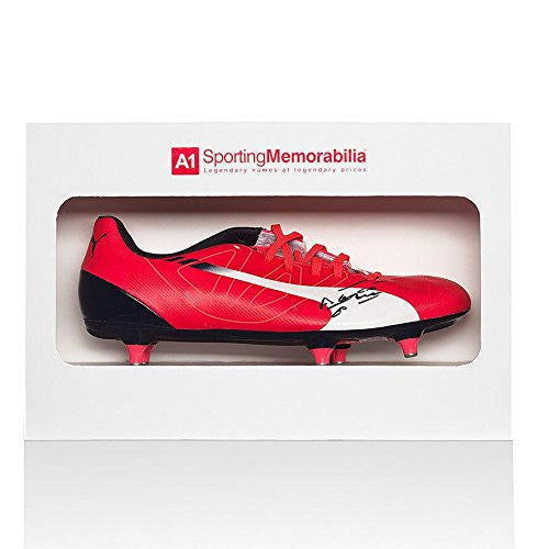 Sergio Aguero Signed Football Boot Puma - Gift Box Autograph Cleat