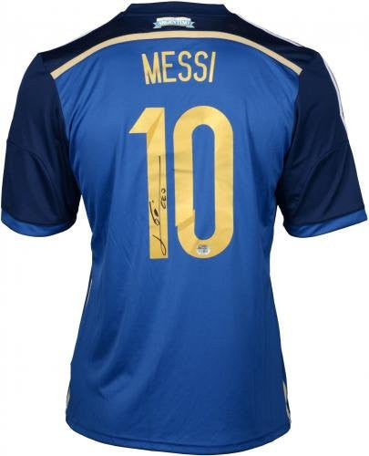 Lionel Messi Argentina Autographed Blue Jersey - Authentic Certified