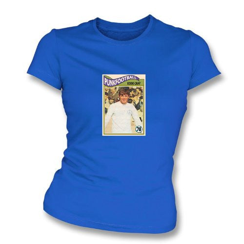 Eddie Gray 1970 Leeds United Royal Blue Women's Slimfit T-Shirt