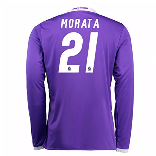 2016-17 Real Madrid Away Longsleeve Shirt (Morata 21)
