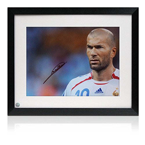 Signed And Framed Zinedine Zidane France Photo: Portrait Of A Genius
