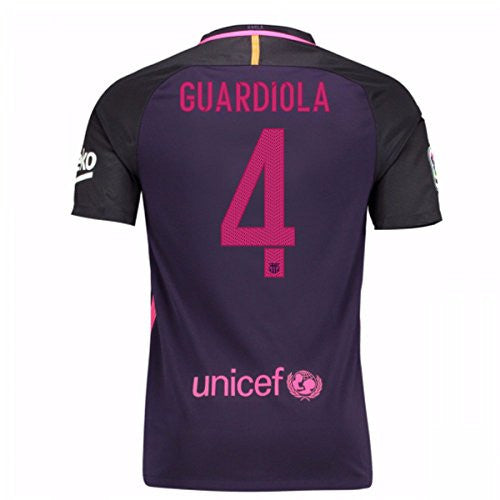 2016-17 Barcelona With Sponsor Away Shirt (Guardiola 4)