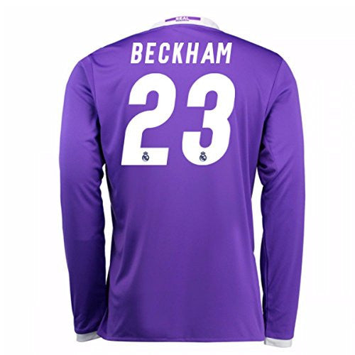 2016-17 Real Madrid Away Longsleeve Shirt (Beckham 23)