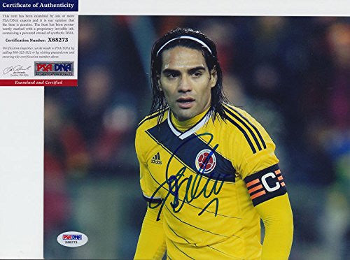 Radamel Falcao Signed Autograph 8x10 Photo PSA/DNA COA #2