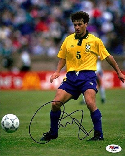 Signed Dunga Picture - Authentic 8x10 - PSA/DNA Certified - Autographed Photos