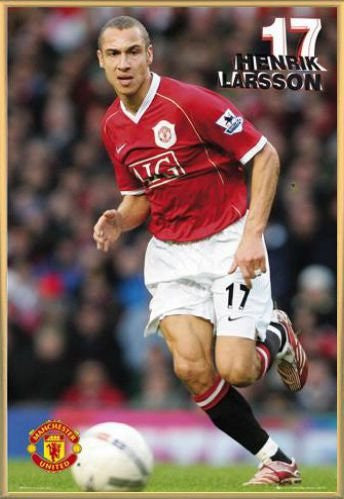 Football Poster and Frame (Plastic) - Henrik Larsson