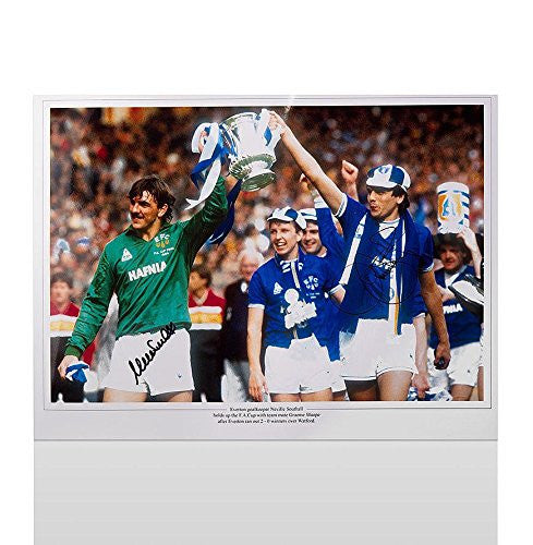 Neville Southall and Graeme Sharp signed Everton Print - 1984 FA Cup