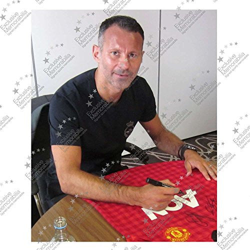 Ryan Giggs And Paul Scholes Signed 2012-13 Manchester United Jersey