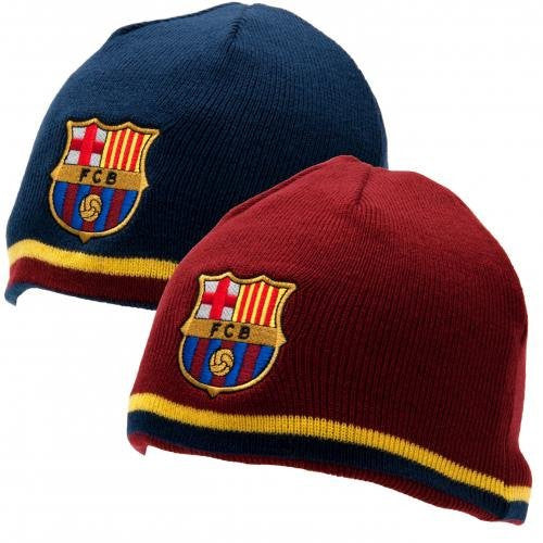 FC Barcelona Reversible Knitted Hat Cap