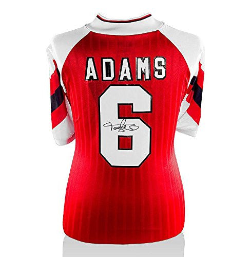 Tony Adams Signed Arsenal Shirt - Number 6 Autographed Jersey