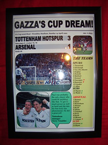 Tottenham Hotspur 3 Arsenal 1 - 1991 FA Cup semi-final - framed print