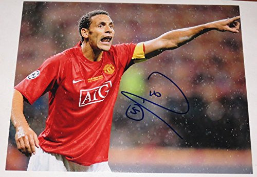 RIO FERDINAND MANCHESTER UNITED SIGNED 11X14 PHOTO AUTOGRAPH ROONEY COA A