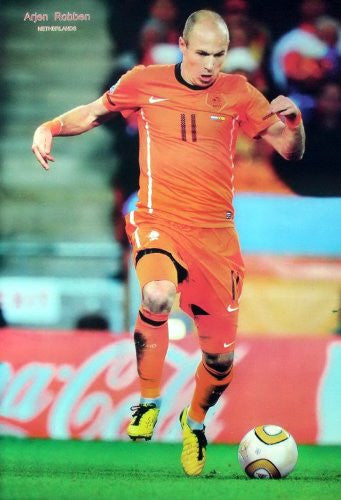 "Arjen Robben Netherlands Wall Decoration Poster Size 23.5""x35"""