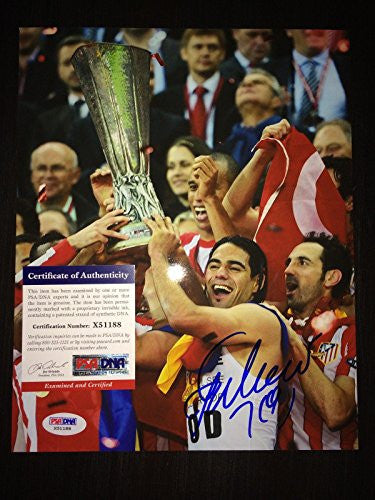 Signed Radamel Falcao Photo - 8x10 Columbia Naional Team AC - PSA/DNA Certified - Autographed Photos