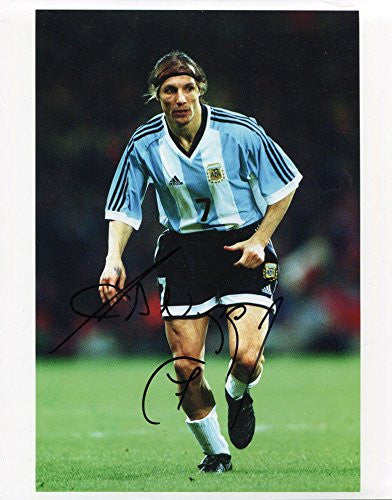 ARGENTINE SOCCER Claudio Caniggia autographed, In-Person signed photo