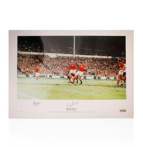 Martin Peters & Alan Ball Hand Signed 1966 England photo Autograph - Autographed Soccer Balls