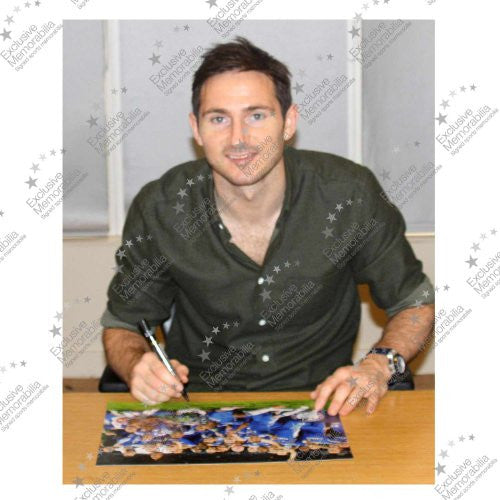Framed Frank Lampard Signed Chelsea Football Photo: The Winning Team