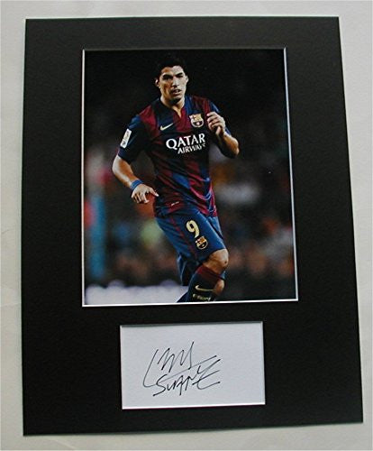 LUIS SUAREZ Barcelona Photo/Signed COA Ready to Frame