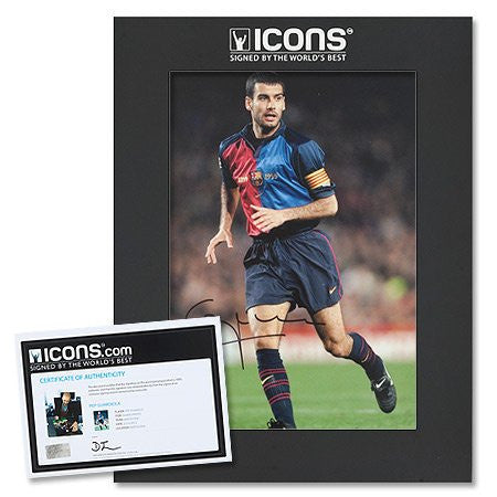 Pep Guardiola Barcelona 'El Capitan' Signed Photo