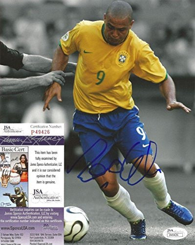 Autographed Ronaldo (Brazil) Photo - #9 Legend