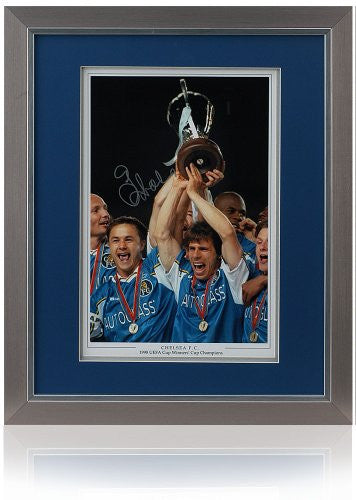 "Gianfranco Zola Hand Signed 16x12"" Chelsea FC"
