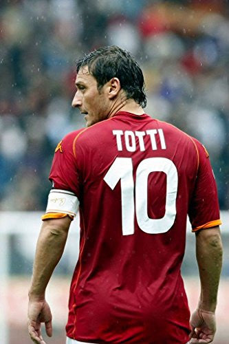 Francesco Totti Spun Silk Fabric Cloth Wall Poster Print (36x24inch 90x60cm)