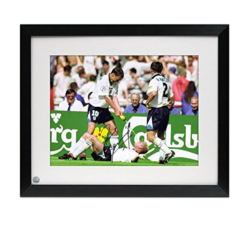Framed Paul Gascoigne Signed England Photograph