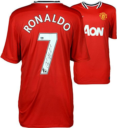Cristiano Ronaldo Manchester Autographed United Jersey - ICONS - Fanatics Authentic Certified - Autographed Jerseys