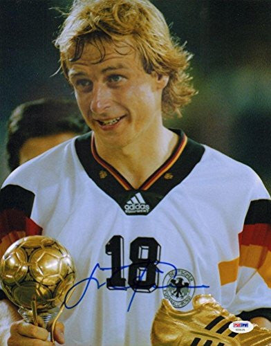 Jurgen Klinsmann Signed 11x14 Photo Germany World Cup A - PSA/DNA Certified