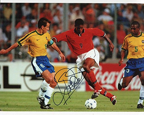 Patrick Kluivert autograph, In-Person signed photo - DUTCH FOOTBALLER