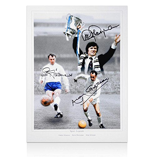 Jimmy Greaves, Alan Gilzean & Steve Perryman Signed Photo - Spurs Legends - Autographed Soccer Photos