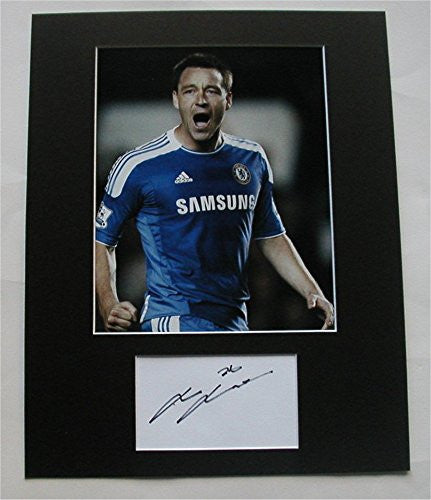 JOHN TERRY Photo/Signed Matted Display