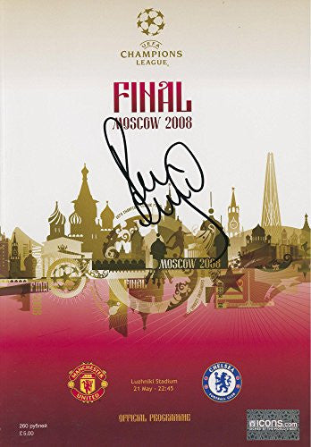 Paul Scholes Manchester United Autographed Moscow 2008 UEFA Champions Program